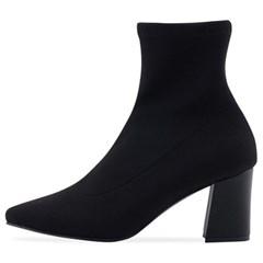 SPUR[스퍼] 삭스부츠 OF8012 Gross grain socks boots 블랙