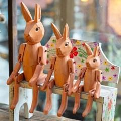 빈티지 목각 토끼 인형 3p set (4type)_(1695552)