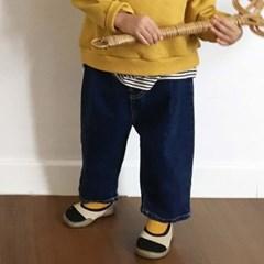 에) 버즈주름 아동 청바지