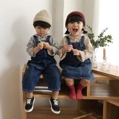 에) 우디 아동 멜빵치마