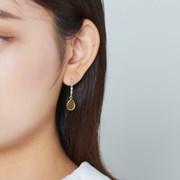 세모큐빅라인 물방울 귀걸이