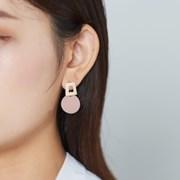 컬러 사다리 동그라미 귀걸이