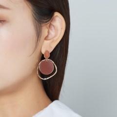 컬러 웨이브 동그라미 귀걸이