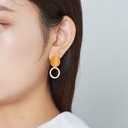 컬러 웨이브 에폭링 귀걸이