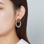 마블 네모 오벌 귀걸이