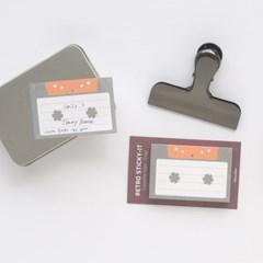 레트로 스티키 점착메모지 - 카세트 테이프