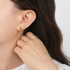 [925 실버]호박 서클 실버 귀걸이 ER206_J