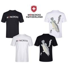 몽크로스 쏘가리 패턴 반팔 라운드 낚시 티셔츠 White_(1268035)