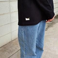 카모캣 긴팔티셔츠 (2type,black)