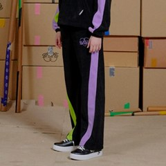 COLOR COMBINATION FLEECE PANT_BLACK (EEON3FPR01W)
