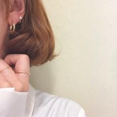 [925실버 진주 링 귀걸이] 린 이어링
