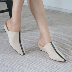 kami et muse Center point suede wedge mule_KM19w026