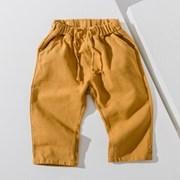 원) 소프트피치 끈 아동 배기팬츠