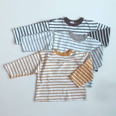엔) 반전스트라이프 아동 티셔츠