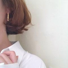 [볼드 링 귀걸이] 뚜에 이어링