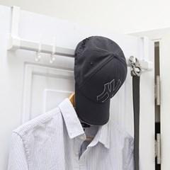 공간활용 모자 가방 옷걸이 무타공 DUAL후크 도어행거_(1085616)