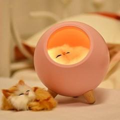 리틀캣하우스 무드등 특이한 캐릭터 실리콘 아기방꾸미기 국민수유등