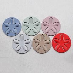 파스텔 실리콘 플라워 냄비받침 - 6color