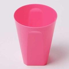 칼라 파티컵 사각-핫핑크(6입)