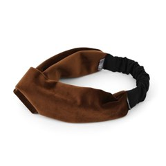 CROSS HAIR BAND / VELVET / BROWN