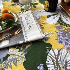 어텀플로럴 머스터드 식탁보 테이블보 2size 테이블러너