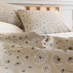 [Fabric] 민들레 모노린넨 White floral blossom Linen