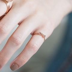 [키스텔라] 14k/18k 3종 애끼반지 'finger tie'