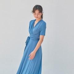 [비키니밴더] 르빈 실키 롱 원피스 - lime blue