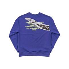 Intro sweat shirts_BL PURPLE