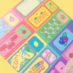 So many ticket-Rainbow Fruits 마스킹테이프