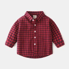 돌핀웨일 깅엄시리즈 컬러셔츠(90~130CM)