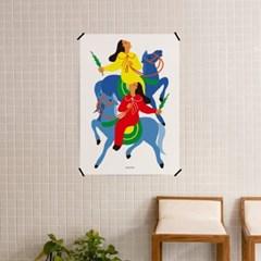 유니크 인테리어 디자인 포스터 M 푸른 말