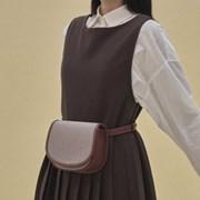 Kate 2way mini bag_check brown