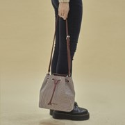 Carrie 3way bucket bag_check brown