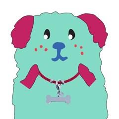 뼈다귀 로프 강아지 인식표 목걸이_ Fuchsia pink