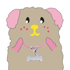 뼈다귀 로프 강아지 인식표 목걸이_ Baby pink