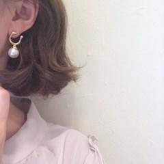 [볼드 진주 귀걸이] 레브 이어링