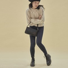 Jenny baguette bag_croc black