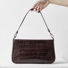 Jenny baguette bag_croc brown
