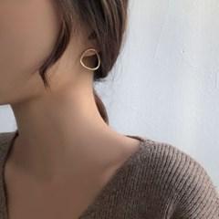 타원무광 볼드 귀걸이