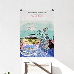 패브릭 포스터 명화 풍경 그림 천 액자 라울 뒤피 14