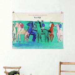 패브릭 포스터 명화 풍경 말 동물 그림 액자 라울 뒤피 5