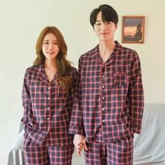 순면 타탄 체크 커플 잠옷