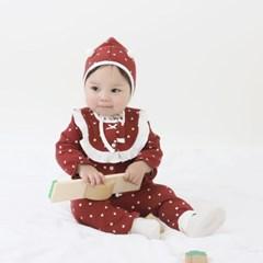 [메르베] 생크림하트 신생아 아기내복/내의/유아실내복__(1333292)