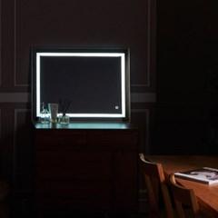 [Ldlab] 시크릿 LED 터치 직사각 화장대 거치 거울_(1716290)
