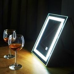 [Ldlab] 시크릿 LED 터치 탁상용 거울_(1716285)