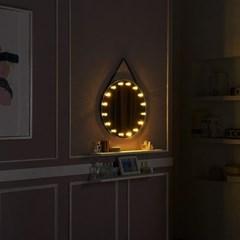 [Ldlab] 시크릿 LED 원형 스트랩 벽걸이 거울_(1716283)