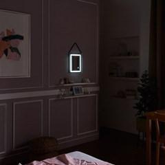 [Ldlab] 시크릿 LED 터치 사각 스트랩 벽걸이 거울_(1716281)