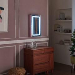 [Ldlab] 시크릿 LED 터치 수납형 거울_(1716280)