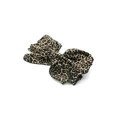 leopard ribbon hairpin